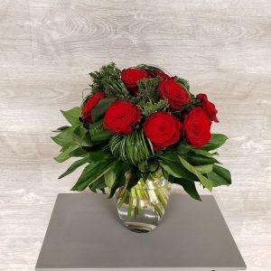 Bouquet de fleurs de roses rouges