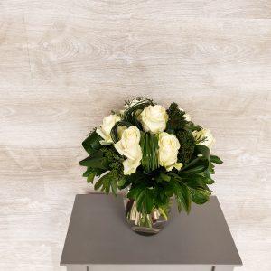 Bouquet de fleurs de roses blanches