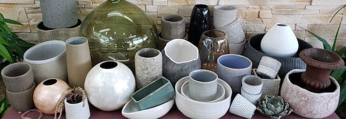 Les vases, cache-pots et autres contenants de Marie Danède