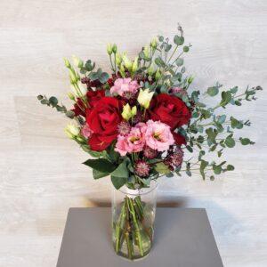 Bouquet champêtre rose et rouge Marie Danède 1