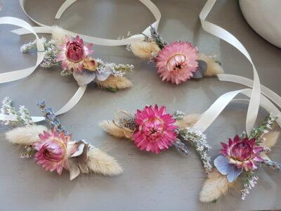 Réalisations en fleurs séchées pour un mariage - Marie Danède