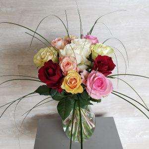 Bouquet de roses multicolores Marie Danède 1