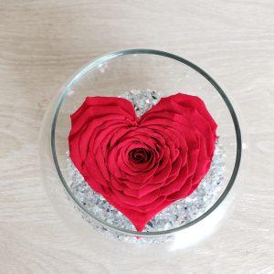 Rose éternelle en coeur Marie Danède 1