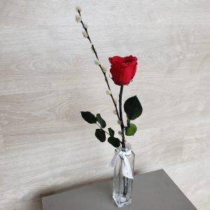 Rose éternelle sur tige et son soliflore Marie Danède 4