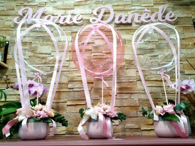 Montgolfiere fleurie Mariage Bapteme Marie Danède 3